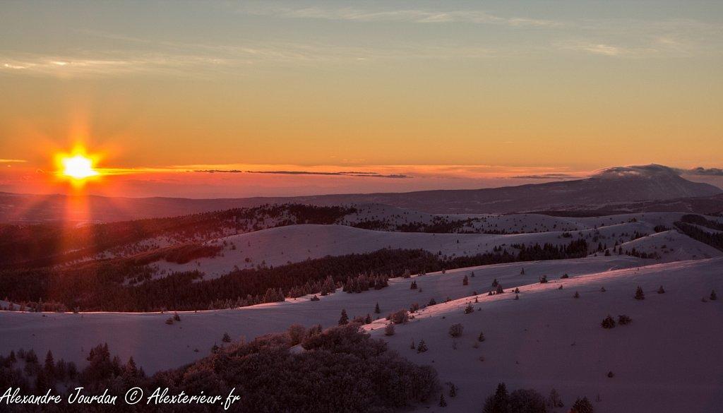 Coucher de soleil deuis la montagne de Lure