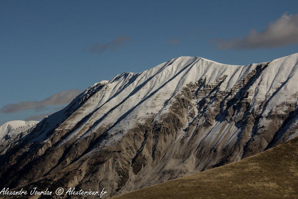 Montagne du Cheval Blanc (2323 m) depuis le Cucuyon
