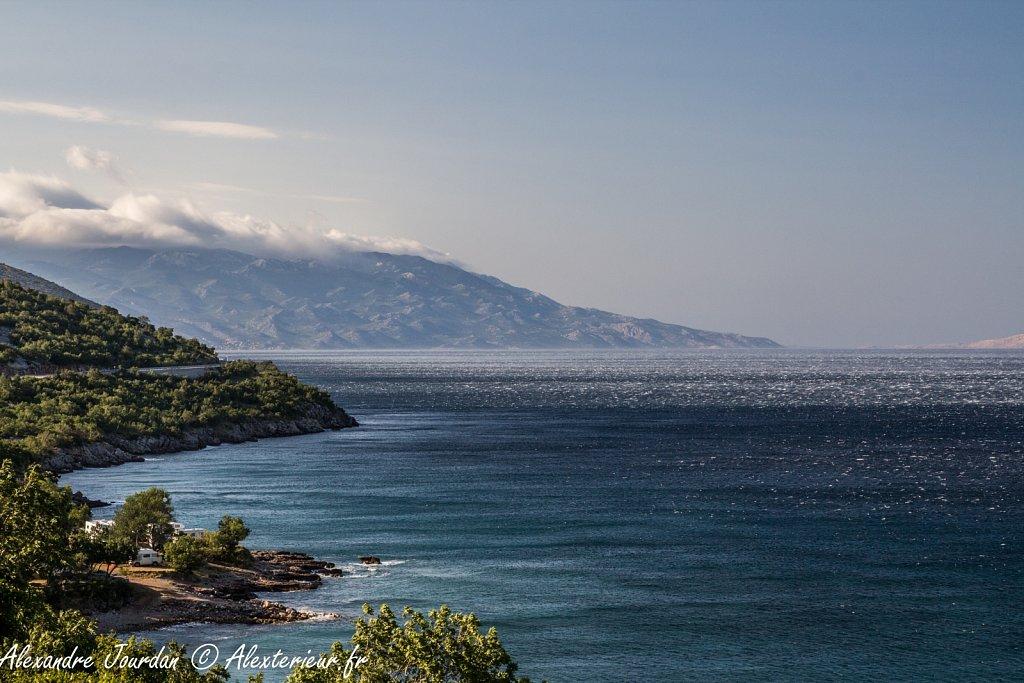 Côte croate un jour de grand vent