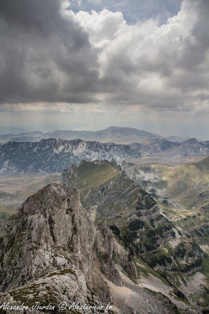 Depuis le Bobotov Kuk (2523 m), Parc national du Durmitor