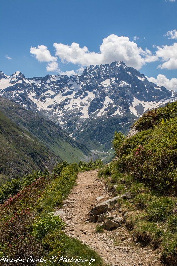 La face nord du Sirac (3441 m)