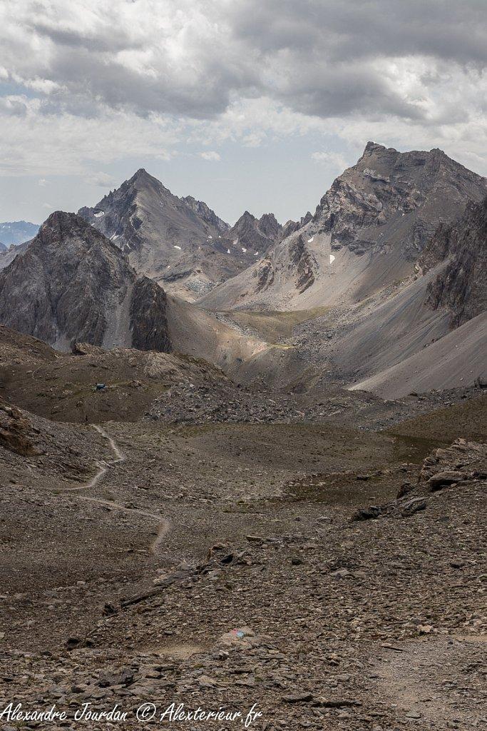 Coté italien depuis le col de la Gypière (2927 m)