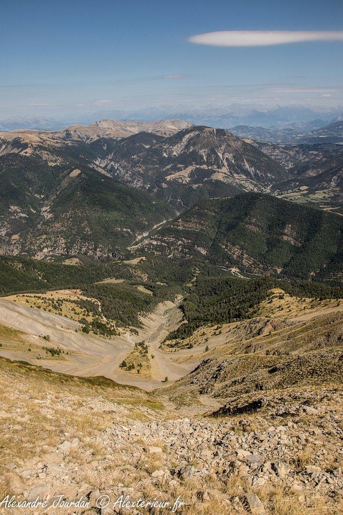 Vue vers le nord depuis le sommet du Blayeul (2189 m)